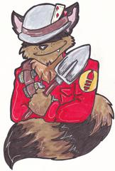 TF2 art! Done at Anthrocon 2010. Date is a guess.