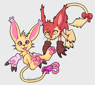 Sugar and Shugo as Gatomon!